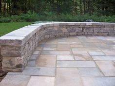 Stone wall created by Outdoor Living