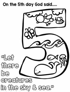 the days of creation are written starting in genesis and outline what god - Creation Day 2 Coloring Page