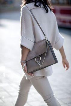 Chloe medium Faye bag in Grey