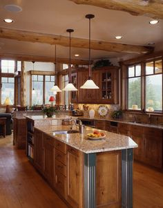 Log Home Living on Pinterest | Log Homes, Log Cabin Homes and Log Home