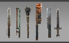 Apocalypse World, Apocalypse Art, Apocalypse Survival, Zombie Gear, Zombie Weapons, Fallout Weapons, Fallout Concept Art, Weapon Concept Art, Dystopia Rising