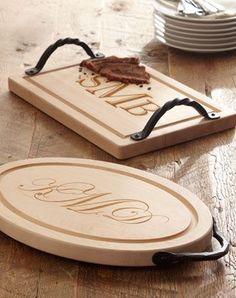 Monogrammed Cutting Board #giftidea
