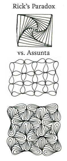 Parasunta - Rick's Paradox and Assunta mixed by CZT Sandy Hunter (this is cool mix because paradox was created by Rick Roberts, co-founder of Zentangle® and Rick created assunta for his wife Maria as a birthday present. she is the second co-founder of Zentangle® • ❃ • ❋ • ❁ • tanglebucket • ✿ • ✽ • ❀ •: