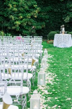 Chic outdoor wedding ceremony idea; photo: Dabble Me This Photography