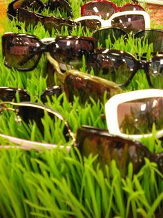 Sunglasses Displayed in Grass #merchandising