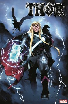 """A Godly First Comic Book Issue Cover for Thor: Director""""s Cut Comic book cover by Olivier Coipel & Laura Martin Where to Buy this Comic Book: Marvel. Lego Marvel, Marvel Dc, Marvel Comics, Marvel Heroes, Cosmic Comics, Manga Comics, Thor 1, New Thor, Wolverine Avengers"""