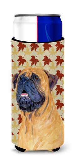 Mastiff Fall Leaves Portrait Ultra Beverage Insulators for slim cans SS4336MUK