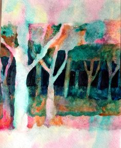 negative space watercolor painting