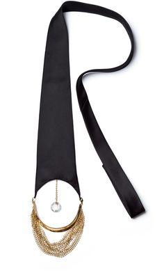 lunar - gold  + crystal pendant tie - rivenoir s/s 2012