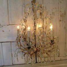 Large birdcage chandelier vintage shabby by AnitaSperoDesign