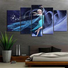 Canvas Print painting wall decor home art Disney Frozen Elsa cartoon (No Frame) #Canvas #Modernism