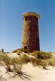 Ruins of the Point Cloates Lighthouse at Ningaloo in north Western Australia on a remote outback station... It was built in the wrong place.