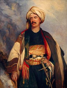 Portrait of David Roberts in Arab Dress, 1840, by Robert Scott Lauder (1803-1869). Robert's was one of the greatest British architectural painters of his day and worked extensively in the Middle East, hence the garb. He was also the first artist  to be be given permission to sketch inside mosques.