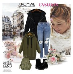 """""""Romwe - Contest"""" by fashionvoice2015 ❤ liked on Polyvore featuring moda, Topshop y Dr. Martens"""
