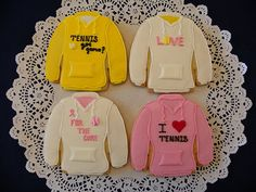 Tennis Cookies by ruthiescookies on Etsy, $48.00