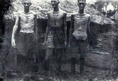 British POWs just after they were liberated from Japanese POW camp