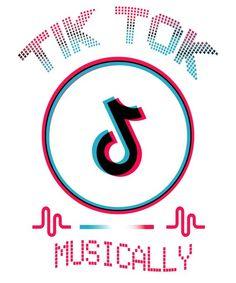 Tiktok Tik Tok Musically Logo Icon Social Media Icons Set