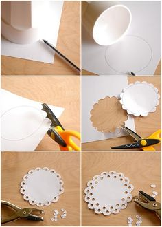 how to make a paper doily - for gift wrap or bd cards, #stationery