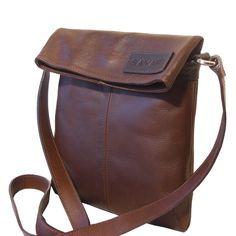 Toast Leather Crossbody Bag - Genuine Lama Leather - Handmade by SAYARI in Bolivia - Messenger $90