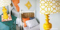 Girl Bedroom turquoise & yellow
