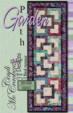 Garden Path Bed Runner Pattern (strip quilt friendly)
