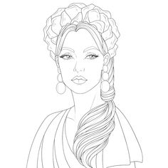 People Coloring Pages, Coloring Book Pages, Coloring Sheets, Barbie Coloring, Shark Party, Drawing Practice, Anime Art Girl, Fashion Cycle, Mocha