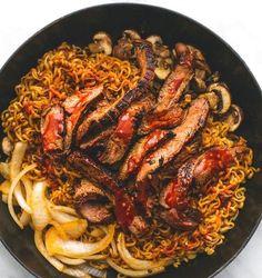 Spicy Korean Beef Noodles   Food Recipes