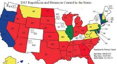 All-GOP controlled states outnumber all-Democratic states 24-7