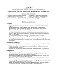 free resume sample for customer service