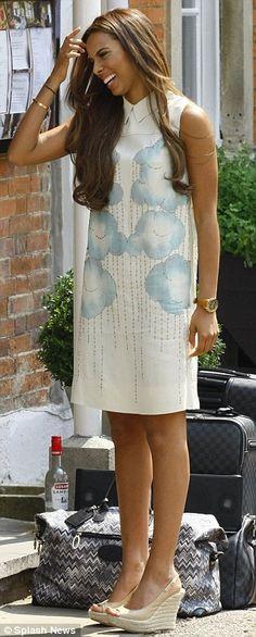 Rochelle Wiseman in Victoria Beckham dress