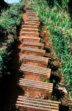 Salto del Caburni, Cuba Steps, made from old radiators Shannon Nace Lonely Pl. Travel Box, Travel Goals, Places To Travel, Travel Destinations, Places To Visit, Lonely Planet, Backyard Walkway, Way To Heaven, Outdoor Stairs