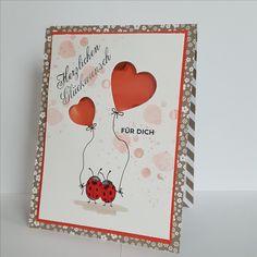 """Süsse Geburtstagskarte mit dem Stempelset """"love you lots""""."""