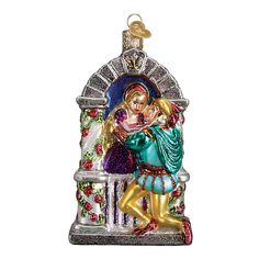 Romeo and Juliet Glass Ornament
