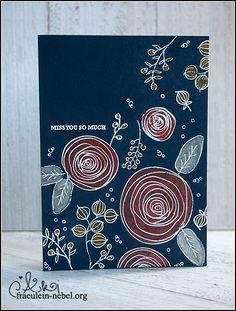 """Karte """"miss you so much"""" mit Simon Says Stamp und Ranger   fraeulein-nebel.org"""