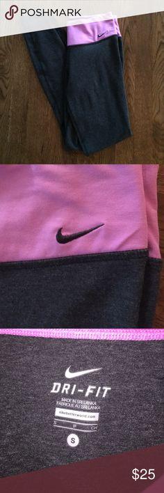 Nike Yoga Pants Pink has light fading. Dri-fit size Small Nike Pants Leggings