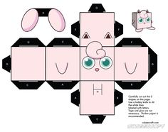 Image detail for -JIGGLYPUFF CUBEE ACTIVITY SHEET POKEMON