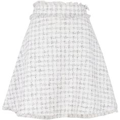 Fringed Detail Skirt ($290) ❤ liked on Polyvore featuring skirts, mini skirts, white, white skirt, short mini skirts, short fringe skirt, msgm skirt and white fringe skirt
