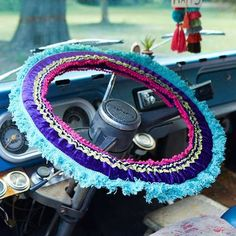 Deck out your ride with these awesome steering wheel covers!  Custom prints and fabrics and bright trims make for a unique car accessory!