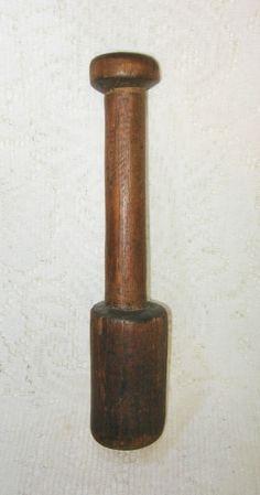 Antique Primitive Wood Stomper Masher ~ SOLD