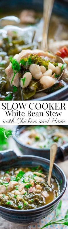 Blog post at Healthy Seasonal Recipes : This slow cooker white bean and ham stew is so easy, just set it and forget it. It is the perfect cooler weather recipe that will bubble awa[..]