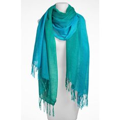 Nordstrom 'Luminous Gradation' Linen Blend Scarf ($38) ❤ liked on Polyvore