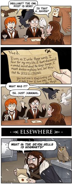 Hogwarts and Game of Thrones Mail Mix Up