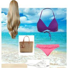Rapunzal at the beach