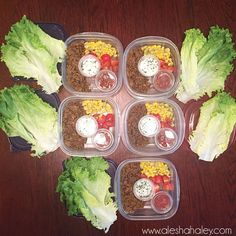 Week 6 – 21 day Fix (2016 Recap) – Alesha Haley - meal prep