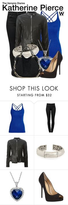 The Vampire Diaries by wearwhatyouwatch on Polyvore featuring moda, Morgan, Emporio Armani, Proenza Schouler, Giuseppe Zanotti, John Hardy, Amanda Rose Collection, television and wearwhatyouwatch