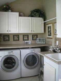 I like the folding countertop over the washer and dryer.