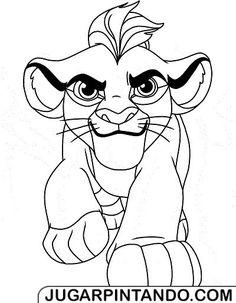 La Guardia del León para imprimir y colorear