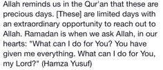 O Allah, what can i do for you?