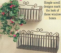 Wrought Iron Window Box--maybe in the bathroom to hold towels or in the kitchen for cookbooks