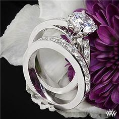 'Cathedral Channel-Set' Diamond Wedding Set